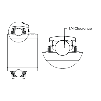 Internal ball bearing clearance