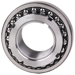 Tapered bore double row self-aligning ball bearing