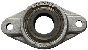 Stainless 2 bolt flange Carbon sleeve bearing